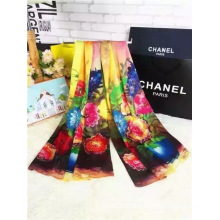 Big Flower Print Cotton Scarf